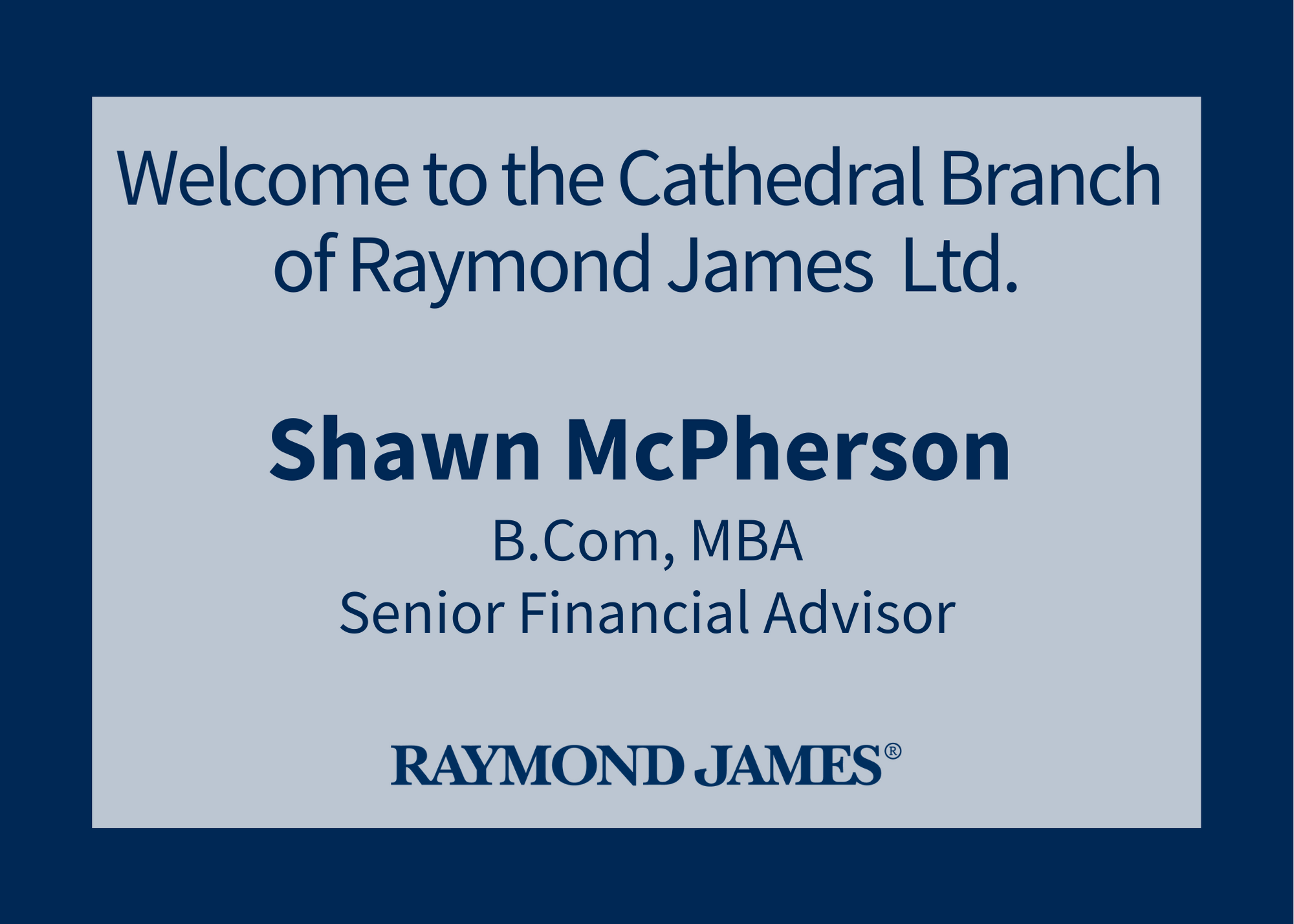 Welcome to the Cathedral Branch Shawn McPherson