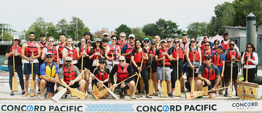 Group at the Summer Branch PArty - Dragon Boating